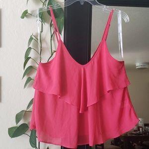 Flowy pink summer top